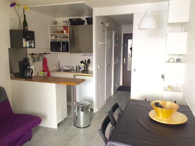 Beau studio avec terrasse plein sud - 蒙德朗(Mont-de-Lans)