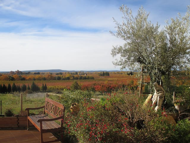 Provencal farmhouse, beautiful view - Saint-Roman-de-Malegarde - Daire