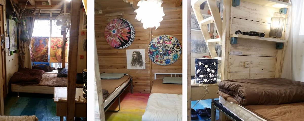 [Art&Sea アート&シー No1]海まですぐアーティスティック個室セルフリゾート・ゲストルーム - Chatan-chō