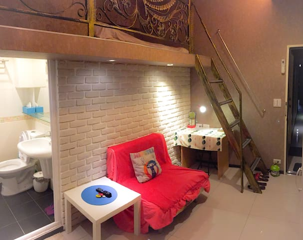 Cozy Loft 5 mins Xinyi MRT Station Nangang Songsha - Xinyi District - Διαμέρισμα