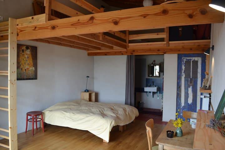 chambre d'hôtes 1001 collines, Monts du Lyonnais - Saint-Martin-Lestra - Casa cueva
