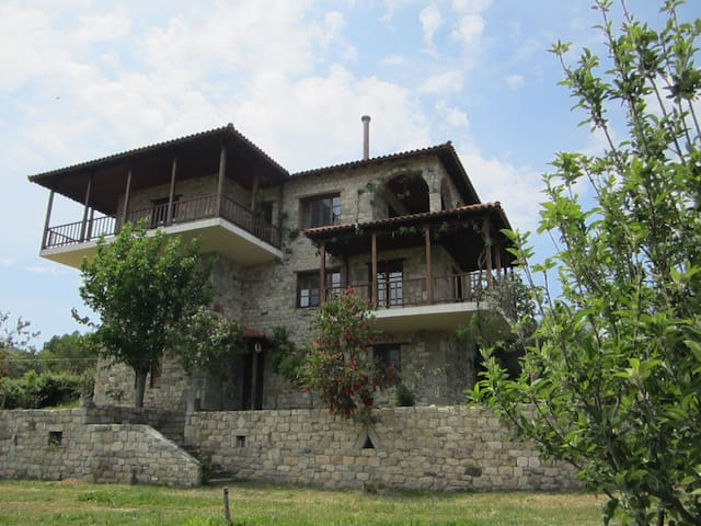 First floor apartment with mount Athos view - Sikia - Appartement
