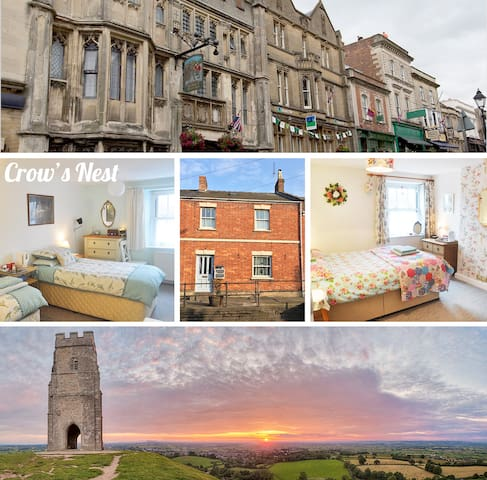 The Crow's Nest on Chalice Hill - Double Room - Glastonbury - Hus