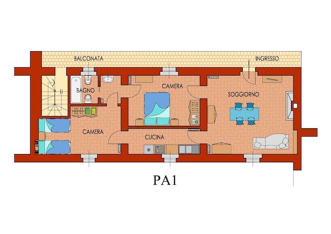 Appartamento I° piano Palazzo Barbò - Torre Pallavicina
