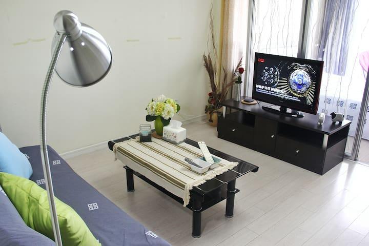 青岛中心城区公寓(中联广场、地铁三号线、五四广场) - Qingdao - Apartamento