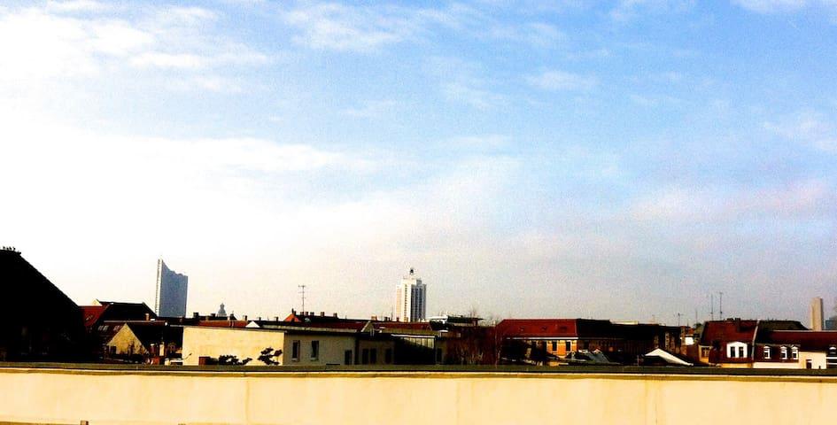 Gemütlich mit Blick auf die Stadt - Leipzig - Departamento