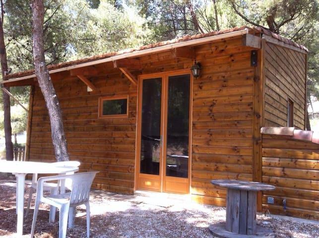 Maison en bois ecofriendly, 4 pers - Sausset-les-Pins - Houten huisje