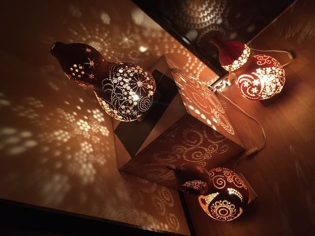 和のあかりをたのしむ家 room 1 - Namerikawa - Huis