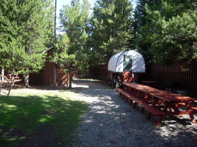 Wagon Wheel Sheep Wagon - West Yellowstone