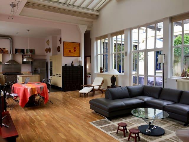 Magnifique loft lumineux avec patio - Bois-Colombes - Loft