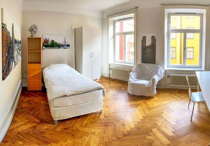 Ljust, lugnt, rymligt och 5 min till Centralen - Stockholm - Lägenhet