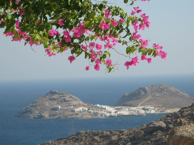 Mykonos Lia 4 bedroom house exquisite views - Kalafati - Huis