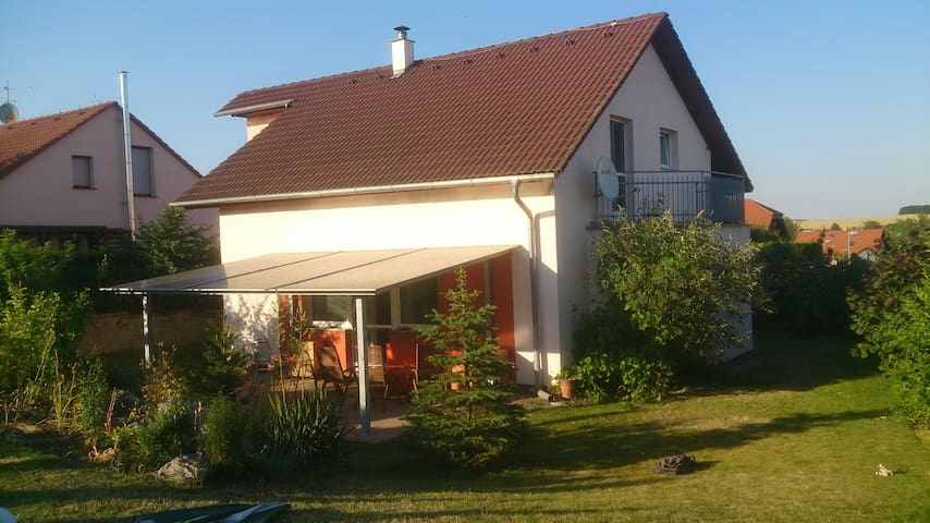 House with a garden pool near Prague airport for 8 - Velké Přílepy - 獨棟