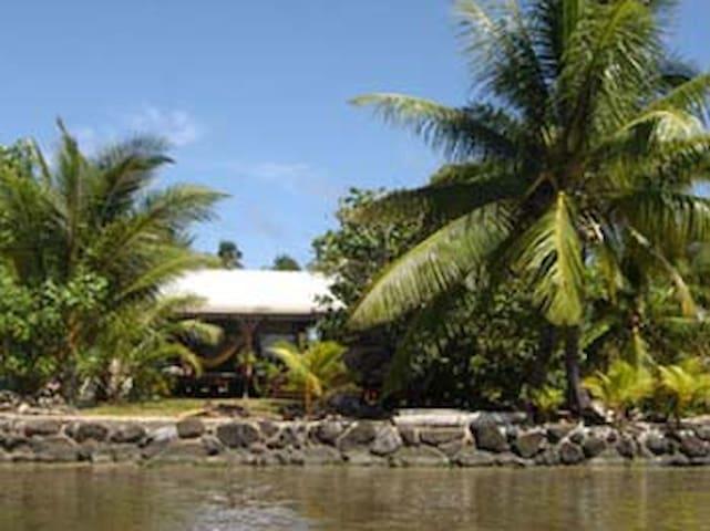 Beach House, private bedroom, maison bord de mer - Ma'atea - Casa