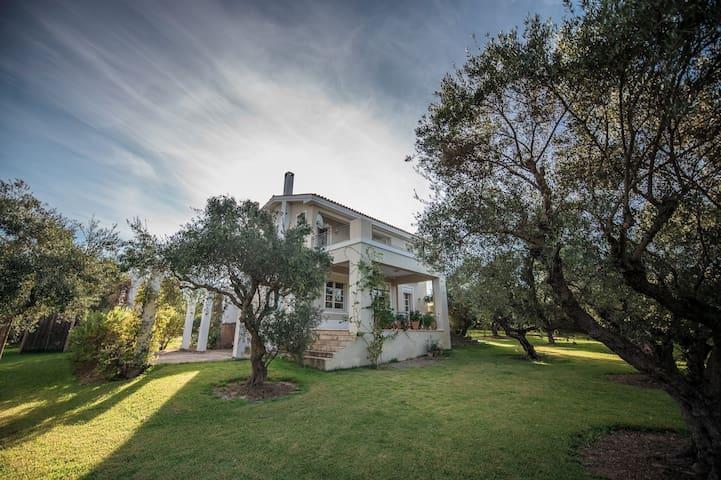 Villa Ilida with sea access and spectacular view - Korakochori - Maison