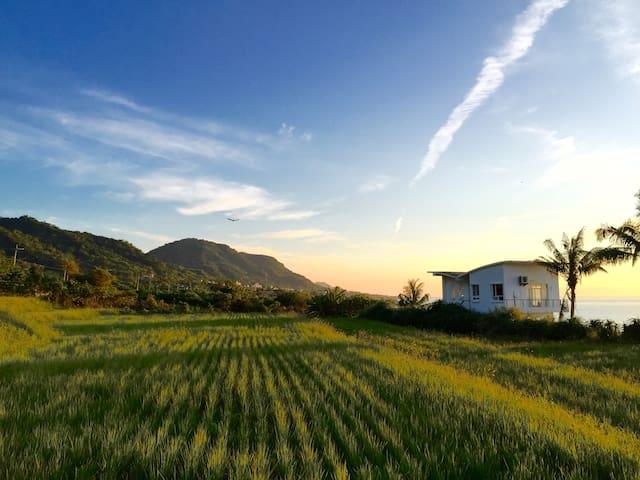 Wishfly beach house 想飛度假屋 獨棟海濱水田別墅 - Changbin Township - 別荘