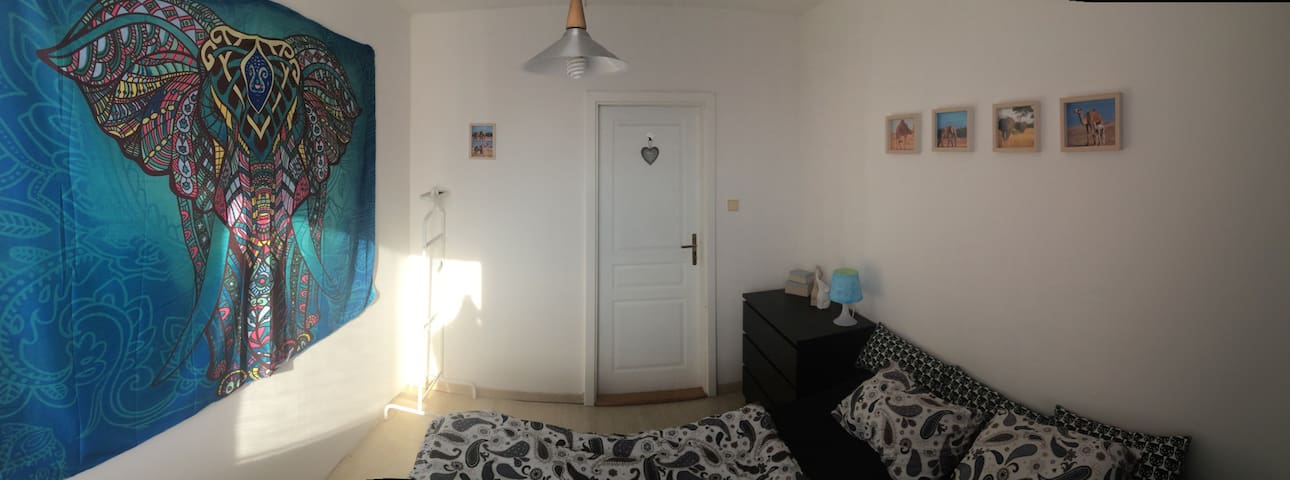 Nice room with balcony and 2 bathrooms! - Praha - Apartment