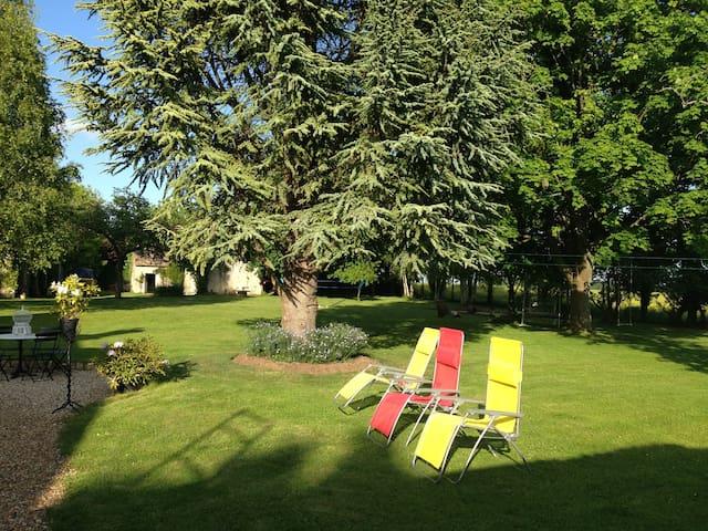 Chambre dans maison de charme 30mn de Giverny - Caillouet-Orgeville - Gästehaus