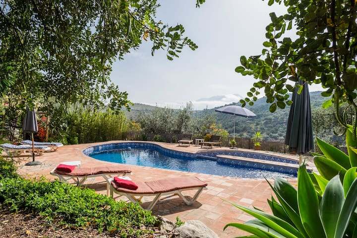 Cosy rustic cottage in beautiful Andalucia. Pool - Cútar - Wohnung