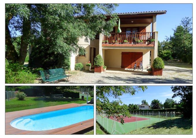 Gîte de France tennis et piscine - Nailloux - Huis