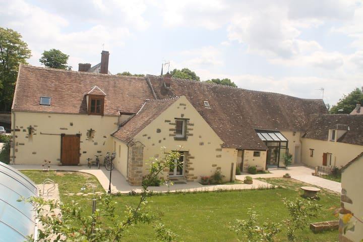 Au bord de l'Yonne et de la Seine, - Barbey