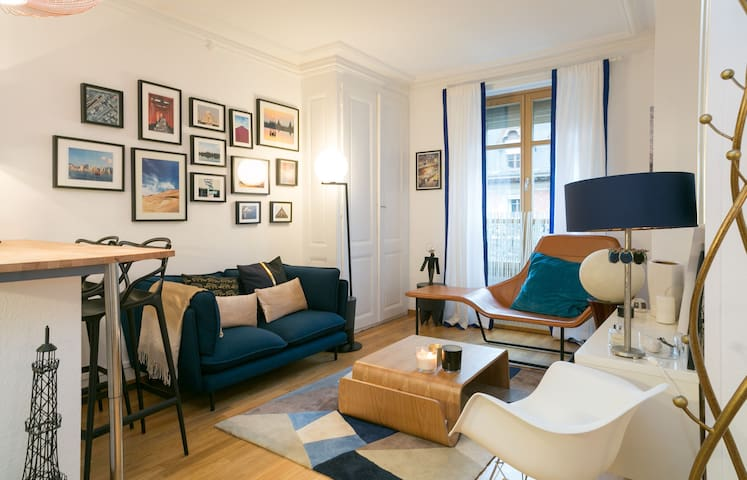 Cosy apt 2min from the lake - Genève - Appartement