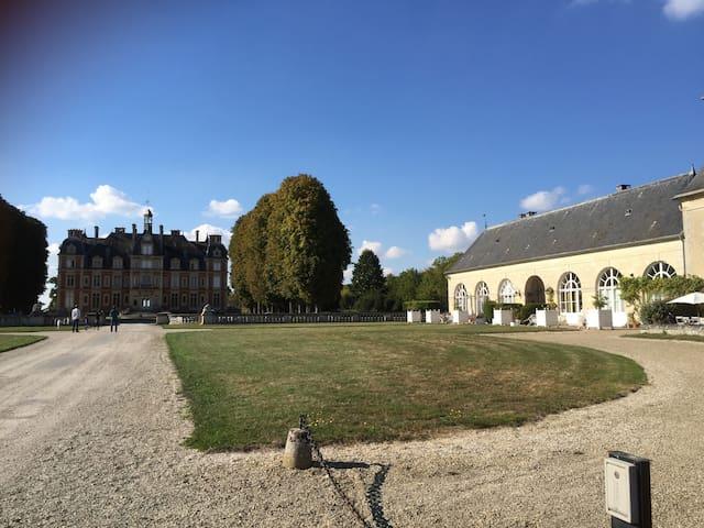 Château Orangerie 3 chambres 30 min Disney - Ocquerre - Lägenhet