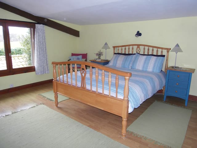 Double Bedroom in Detached Farmhouse with Pool - Lésignac-Durand - Hus