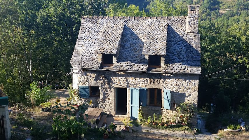 Rustic Woodland Cottage with Beautiful Views - Saint-Amans-des-Cots - Hus