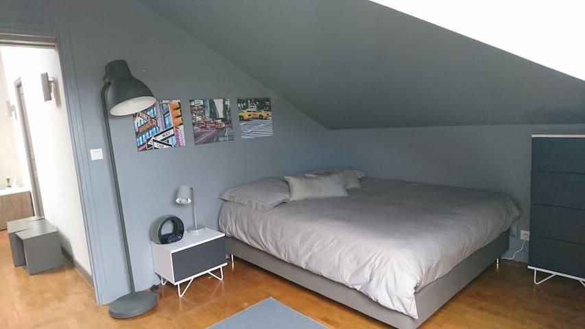 Chambre dans un cadre arboré proche de Lyon centre - Dardilly - Gjestehus