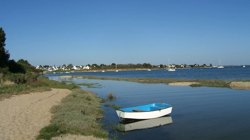 Charmante maison avec vue sur mer près de la plage - Riantec - Hus