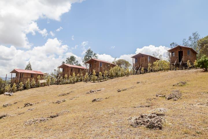 Hermosas cabañas con vista al embalse de Guatavita - Guasca - Kulübe