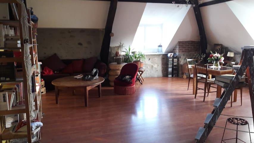 Chambre dans bel appartement F4 vue sur Pyrénées - Laloubère - Daire