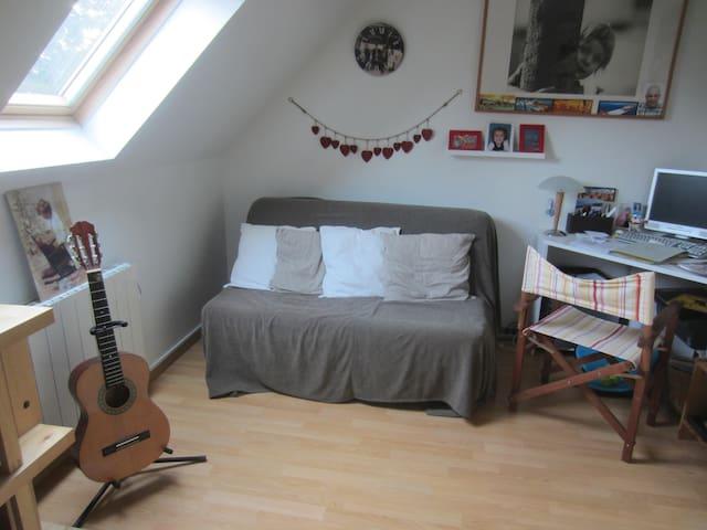 Chambre cosy chez hôtes sympas!! - Samoreau - Bed & Breakfast