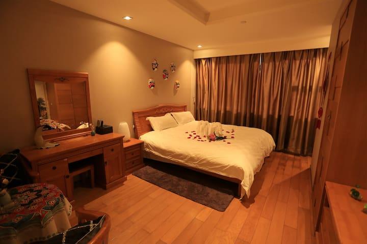 五星级酒店公寓,地铁口文艺复古中式景观双人套房 - Shenzhen - Apartotel