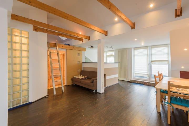 Außergewöhnliches 1-Zimmer-Apartment - 59qm - Erkelenz - Leilighet