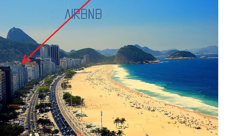 QUARTO,COPACABANA, WI-FI, AR, 1 QUADRA PRAIA/METRO - Rio de Janeiro - Dortoir