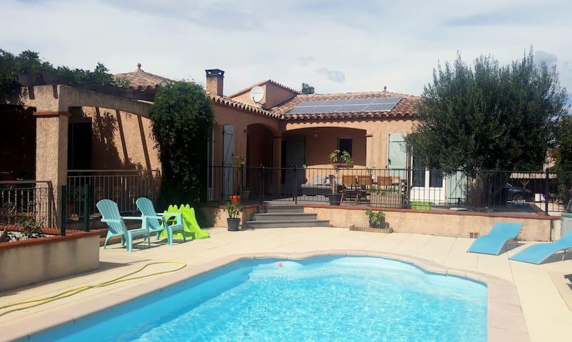 Belle villa méditerranéenne avec piscine, au calme - Corbère-les-Cabanes - Casa