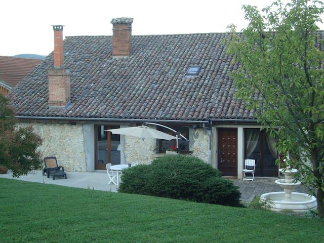 Chambres dans vaste maison calme avec piscine - Tullins - Bed & Breakfast