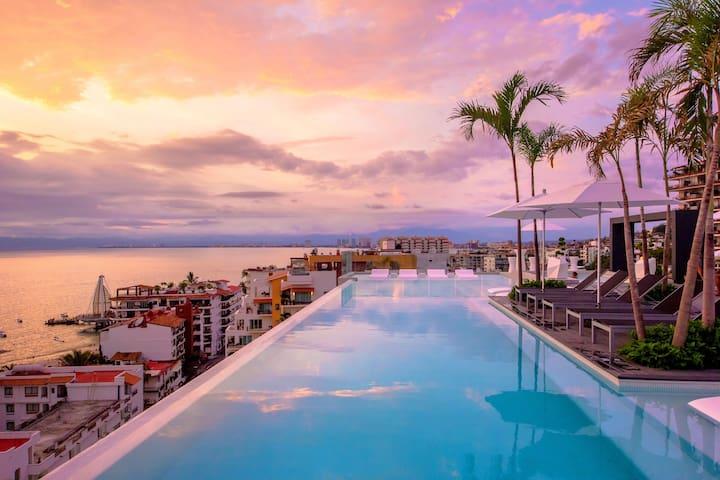 W601 D'Terrace Vacation like a Rockstar - Puerto Vallarta - Appartement
