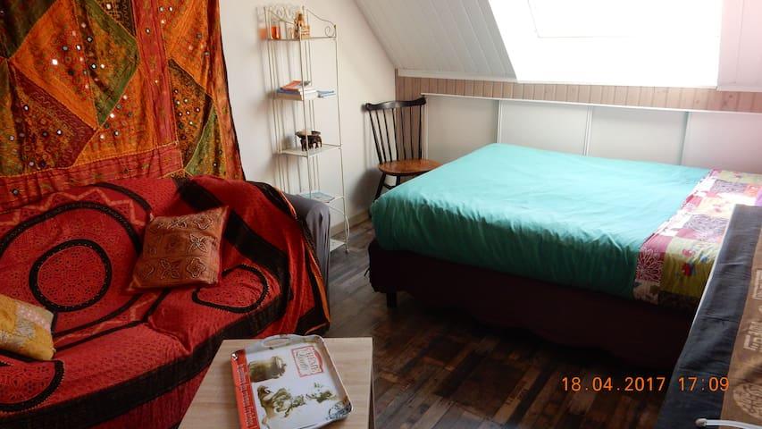 Chambre indépendante avec sa sdb, kitchenette rdc - Pluneret - Hus