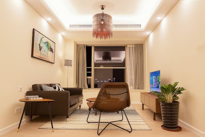 【拱北商业区】近板樟山、白莲洞公园奢华城景二房一厅公寓 - Zhuhai - Wohnung