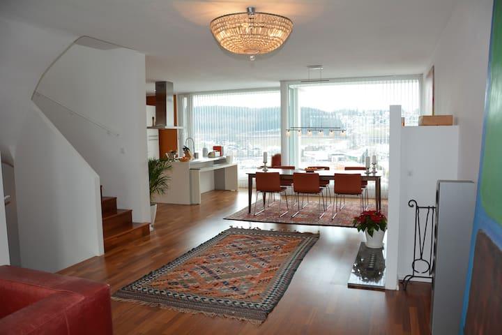 Luxuswohnung 140 m² - 10 Min. bis Salzburg Zentrum - Bergheim - Appartement