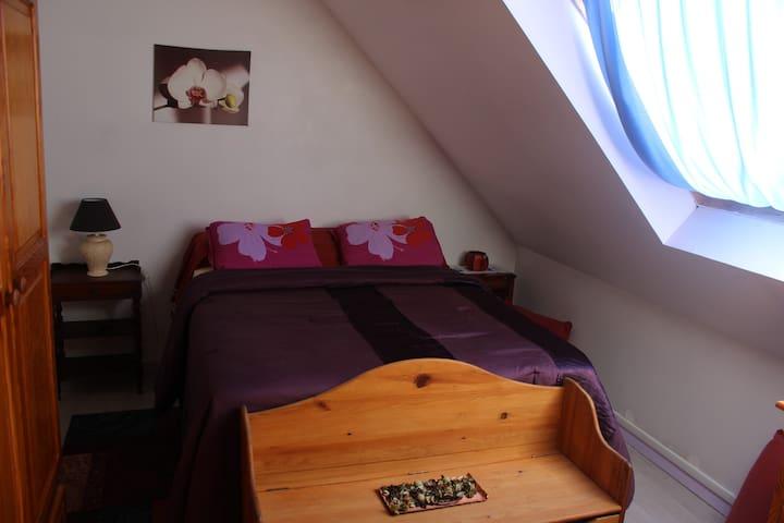 Chambre lumineuse 1 à 2 pers - Crégy-lès-Meaux - Rivitalo