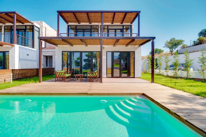 Lux villas with panoramic sea views - Nea Moudania - Villa