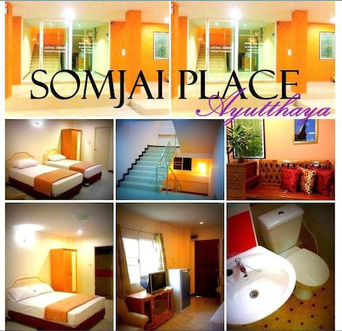 PRIVATE A/C TWIN ROOM - Phra Nakhon Si Ayutthaya - Lägenhet