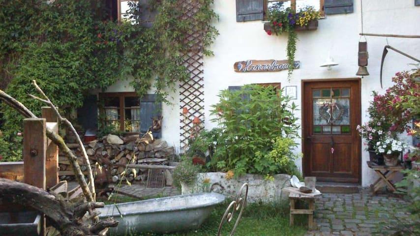 Bauernhaus 18.Jh,urig,Sauna,Wlan,Holzofen,TV - Unterthingau - Casa