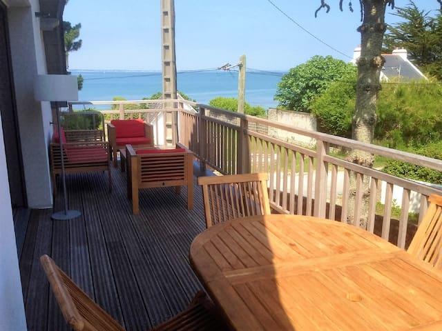 2 pièces duplex NEUF, terrasse, vue mer, 20m plage - Saint-Pierre-Quiberon - Appartement