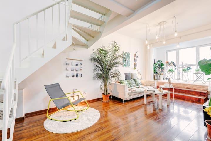 【我家有个植物园】大两居室复式楼 - Pekin - Apartament