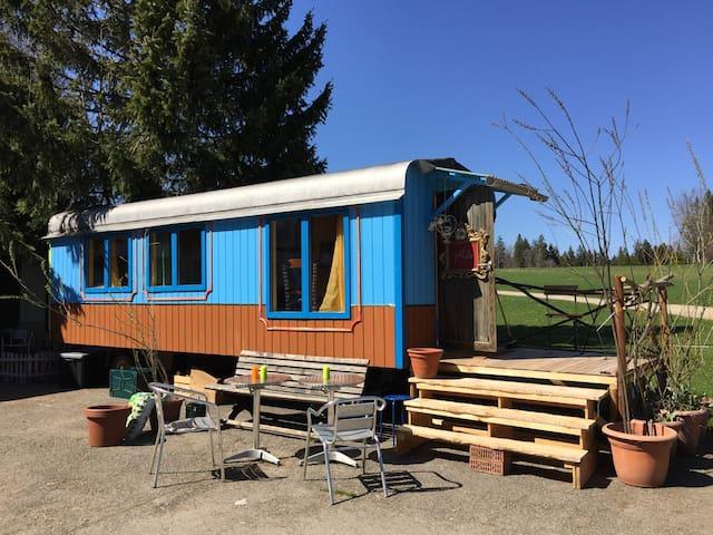 Circuswagen/ Roulotte, im Herzen der Freiberge - Saignelégier - Camper